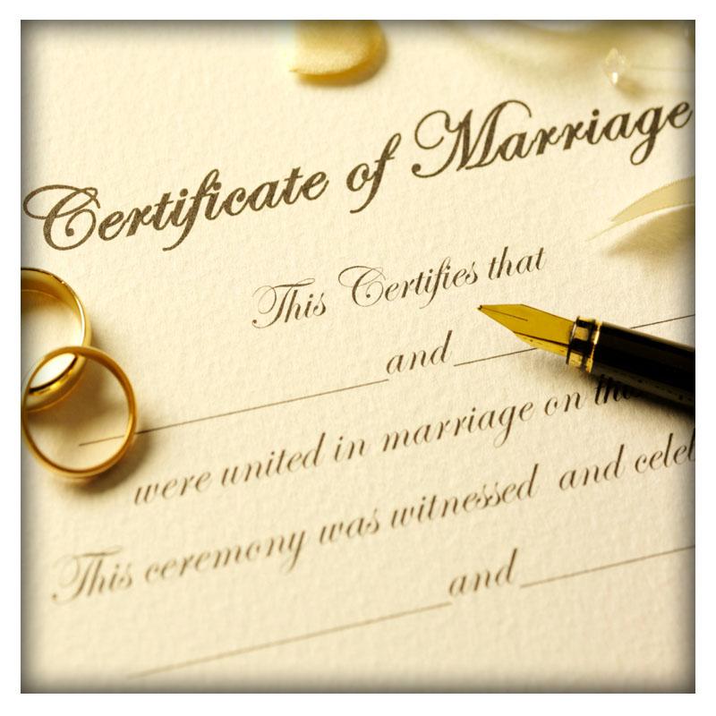 Marriage Certificate Verification